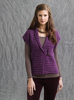 Sierras Vest in Tahki Yarns Donegal Tweed
