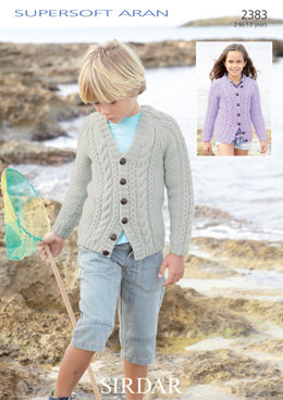 Girl's and Boy's Cardigans in Sirdar Supersoft Aran - 2383