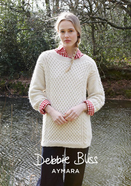 """Maggie Jumper"" - Jumper Knitting Pattern For Women in Debbie Bliss Aymara - DB214"