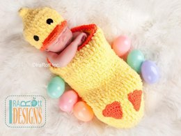 CROCHET Quacky Easter Ducky Baby Hat and Cocoon Set PDF Pattern