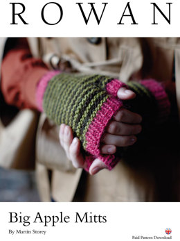 Big Apple Mitts in Rowan Creative Focus Worsted - D139 - Downloadable PDF