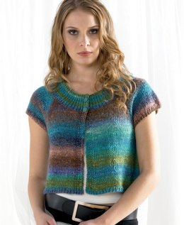 Short Sleeves Top in Noro Silk Garden