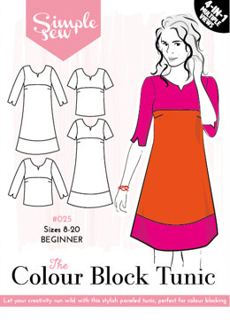 Simple Sew Patterns The Colour Block Tunic #025 - Sewing Pattern