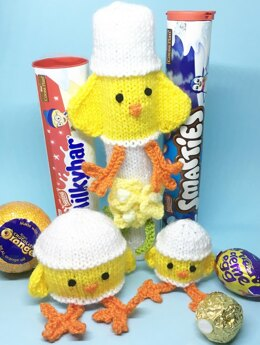 Easter chick, smartie, cream egg chocolate orange