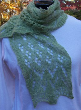 Trees in Snow (cashmere scarf)