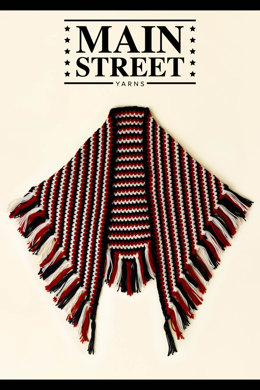 Broken Stripe Shawl in Main Street Yarns Shiny + Soft - Downloadable PDF
