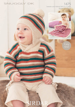 Jumper, Hat and a Blanket in Snuggly DK - 1475