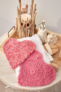 Here's My Heart Scrubbies in Red Heart Scrubby Cotton and Prints - LW5576
