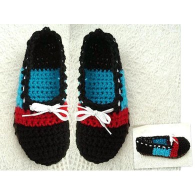 549 Crochet Espadrilles, sandals, booties, slippers, street shoes