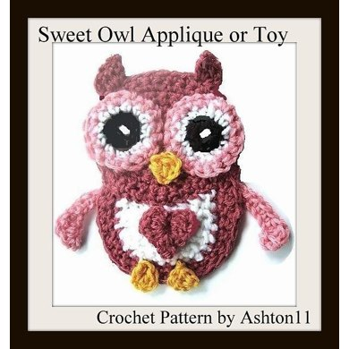 Baby Owl Toy or Applique | Crochet Pattern by Ashton11