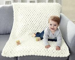 Criss Cross Baby Blanket in Bernat Alize Blanket-EZ - Downloadable PDF