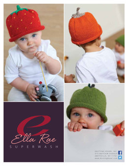 Beanie Set 3 in Ella Rae Superwash Classic - ER16-03 - Downloadable PDF