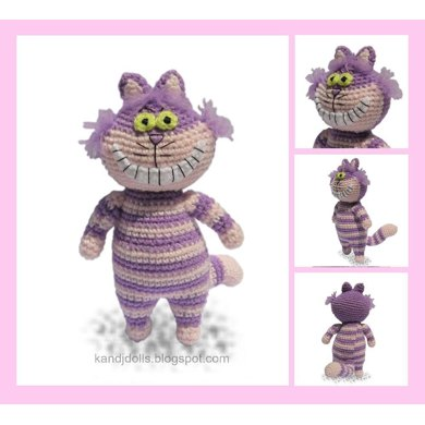 Cheshire Cat - Amigurumi crochet pattern