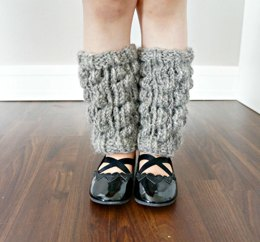 The Selma set - knitted leg and hand warmers