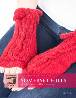 Somerset Hills Fingerless Mitts in Juniper Moon Tenzing - Downloadable PDF