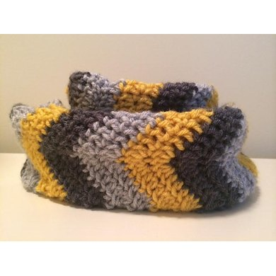 Chevron Infinity Scarf Pattern Crochet Pattern By Hamptons Hookers