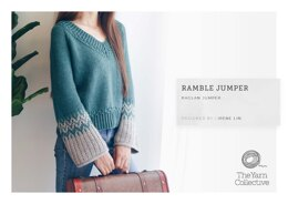 """Ramble Jumper by Irene Lin"" - Jumper Knitting Pattern For Women in The Yarn Collective"