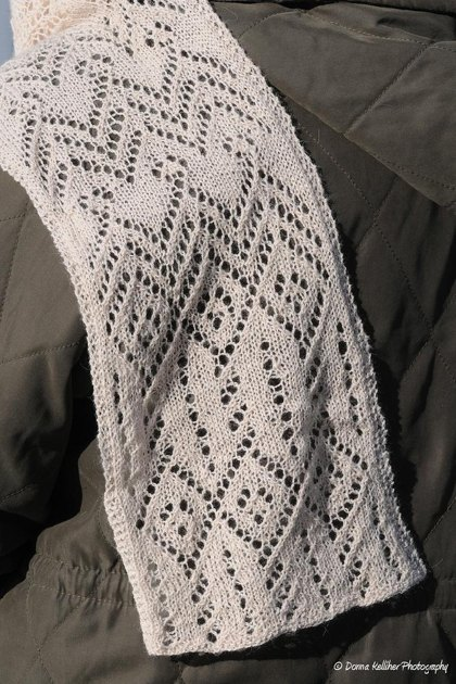 Aviator Scarf Lace Weight Knitting Pattern By Rachel
