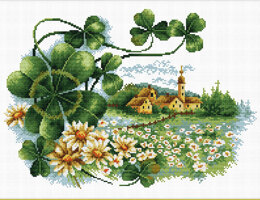 Needleart World Scenery Clover No-Count Cross Stitch Kit - 35 x 25 cm (Multi)