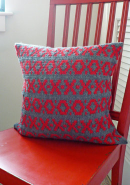 Buss Square Pillow Cover in Berroco Vintage
