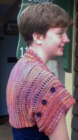 Cuff's Shrug in Lace with Dorset buttons