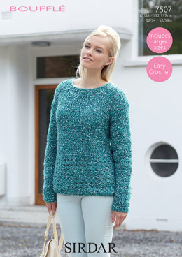 Sweater in Sirdar Bouffle - 7507