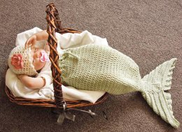 Baby Mermaid Tail Cocoon