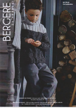 Polo neck sweater in Bergere de France in Duvetine - 33606
