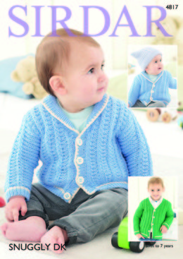 Cardigans in Sirdar Snuggly DK - 4817 - Downloadable PDF