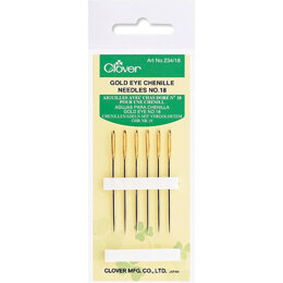 Clover Gold Chenille Needles Size 18
