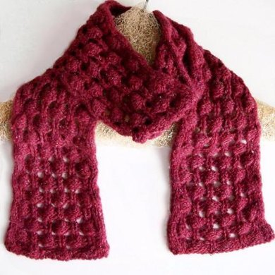 Berry Briar Knit Lace Scarf