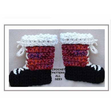 617 Tall Boot Style Slippers, baby to adult
