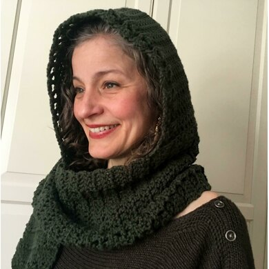 Crochet Hooded Scarf Pattern / Scoodie: Heading-Out Hooded Scarf
