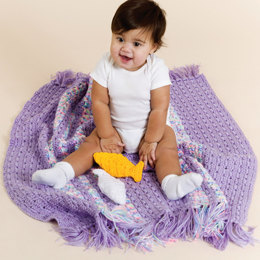Crochet Baby Playtime Blanket in Red Heart Soft Baby Solids and Multis - LW1598 - Downloadable PDF