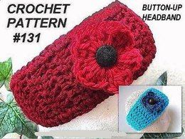 131, RED HEADBAND WITH FLOWER