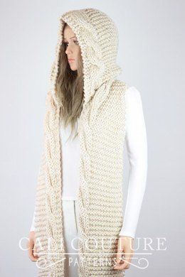 Vail Knit Hooded Cable Scarf #37