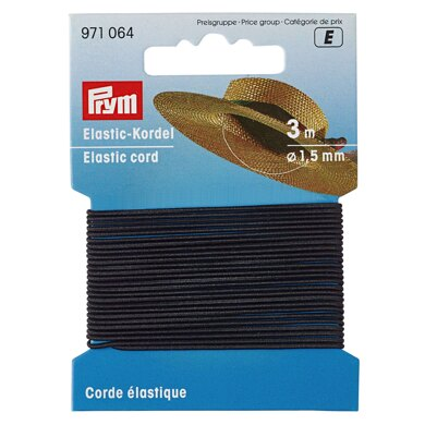 Prym Elastic-Cord 1.5mm x 3m Black