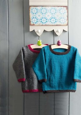 Buckthorn Pullover & Cardigan in Rowan Pure Wool Worsted - Downloadable PDF