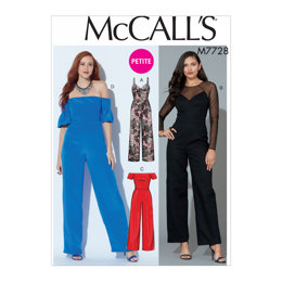 McCall's Misses'/Miss Petite Jumpsuits M7728 - Sewing Pattern
