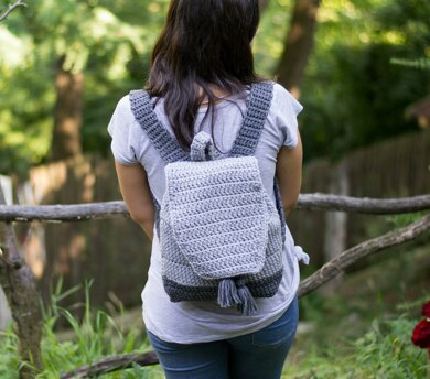 Light Grey Dipped Backpack