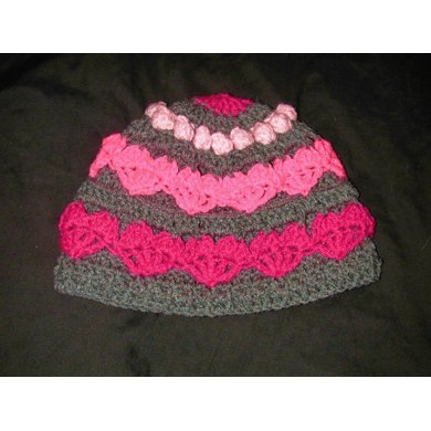 Hearts and Bobbles Beanie