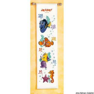 Vervaco Disney - Nemo Height Chart Counted Cross Stitch Kit - Multi