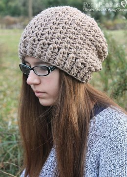 Mini Shells Slouchy Hat Crochet Pattern 298