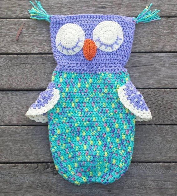 Crochet Plastic Bag Dispenser Pattern : Cute Owl Plastic Bag Holder Crochet pattern by Buttonnose ...