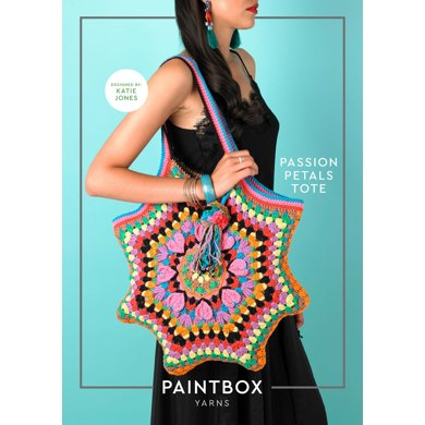 Passion Petal Tote in Paintbox Yarns Cotton Aran - Downloadable PDF