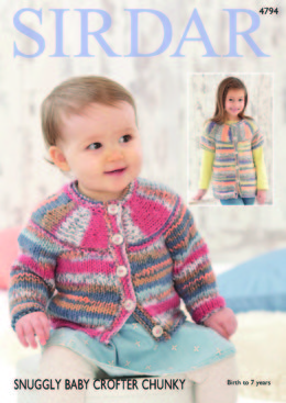 Cardigans in Sirdar Snuggly Baby Crofter Chunky - 4794 - Downloadable PDF