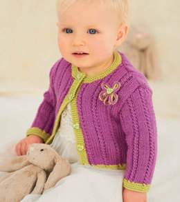 Children's V Neck and Round Neck Cardigans in Rico Baby Classic DK - 090