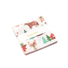LoveCrafts Christmas Village Charm Pack - Multi