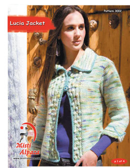 Lucia Jacket in Misti Alpaca Chunky & Hand Paint Chunky - 3002 - Downloadable PDF