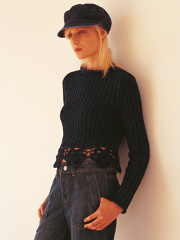 Nova Sweater in Rowan Original Denim